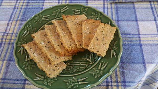 Savory almond crackers